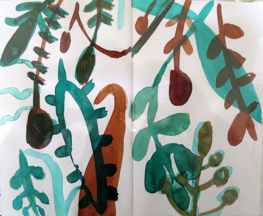 Elly-Hees-Botanische-tuin-2-pigmentinkt-2016