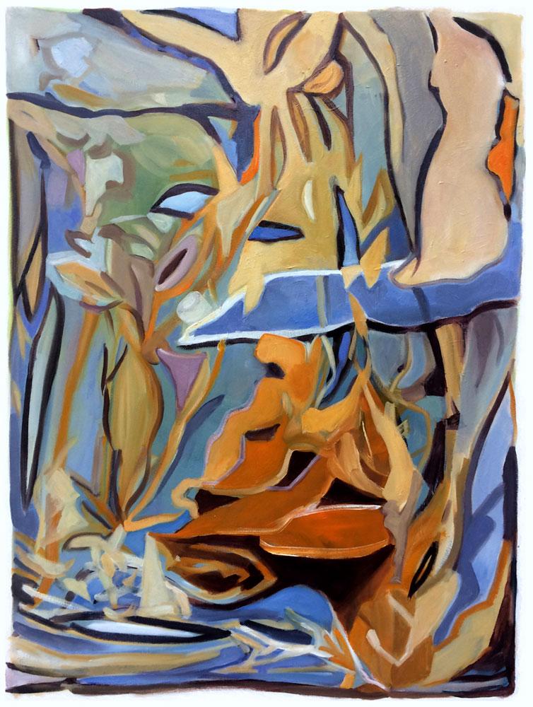 Elly-Hees-Deep-Orange-olieverf-op-canvas-60x80-2019