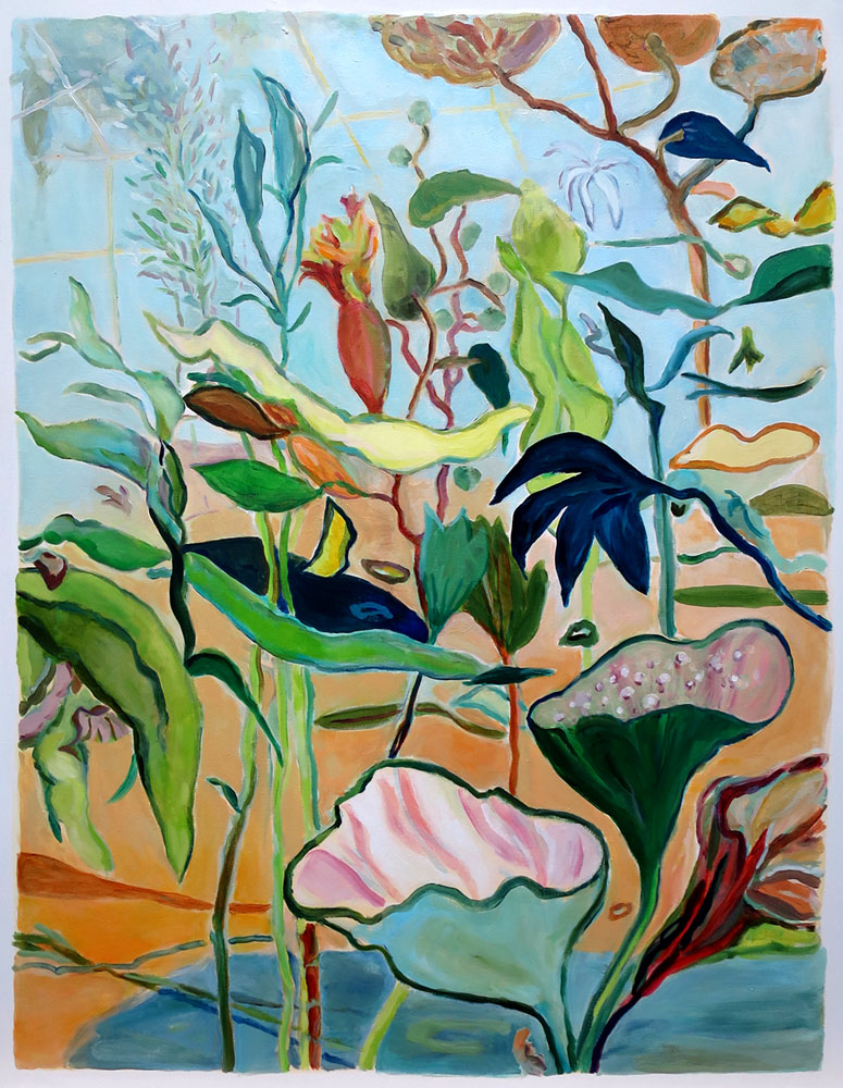 Elly-Hees-Greenhouse-olieverf-op-canvas-75x90-2019